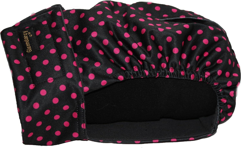 Glenndarcy - Pañal para Mujer con diseño de Lunares, Color Negro y Rosa