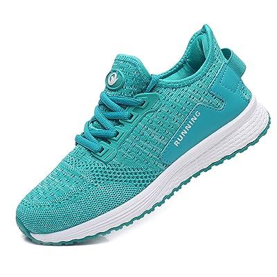 GOOBON Women's Memory Foam Running Sneakers Slip On Tennis Shoes Lightweight Gym Jogging Sports Athletic Walking Shoes US5.5-10 | Road Running