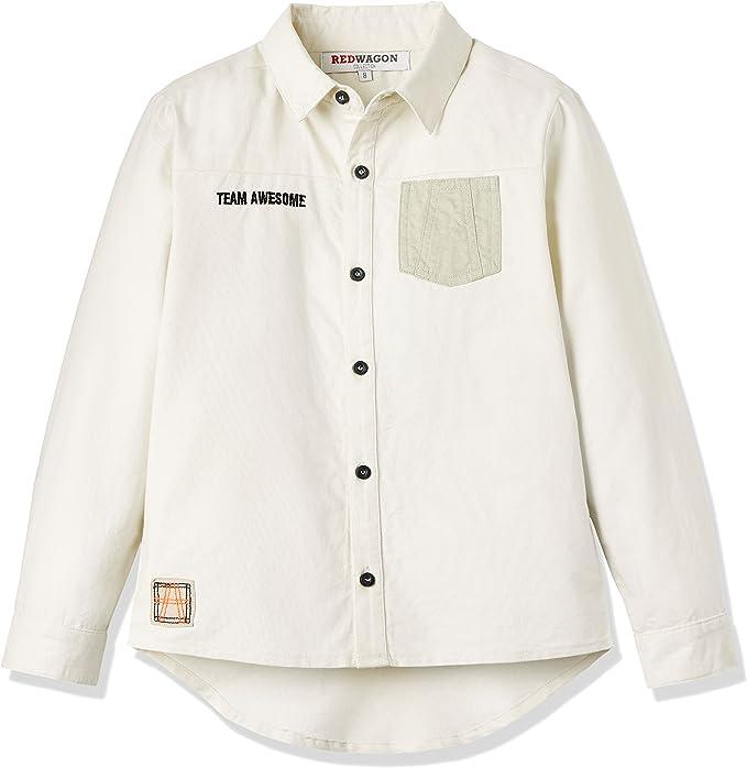 REDWAGON Shirt - camisa Niños, Marfil (Ecru), 4 años: Amazon.es: Ropa y accesorios