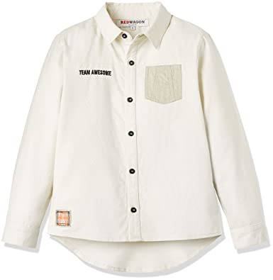 e41c2332 RED WAGON Boy's Long-Sleeved Utility Shirt: Amazon.co.uk: Clothing