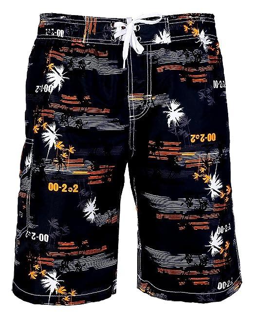 9 opinioni per Pantaloncini da Bagno Uomo ,Costume da bagno Uomo Boxer con Tie anteriori
