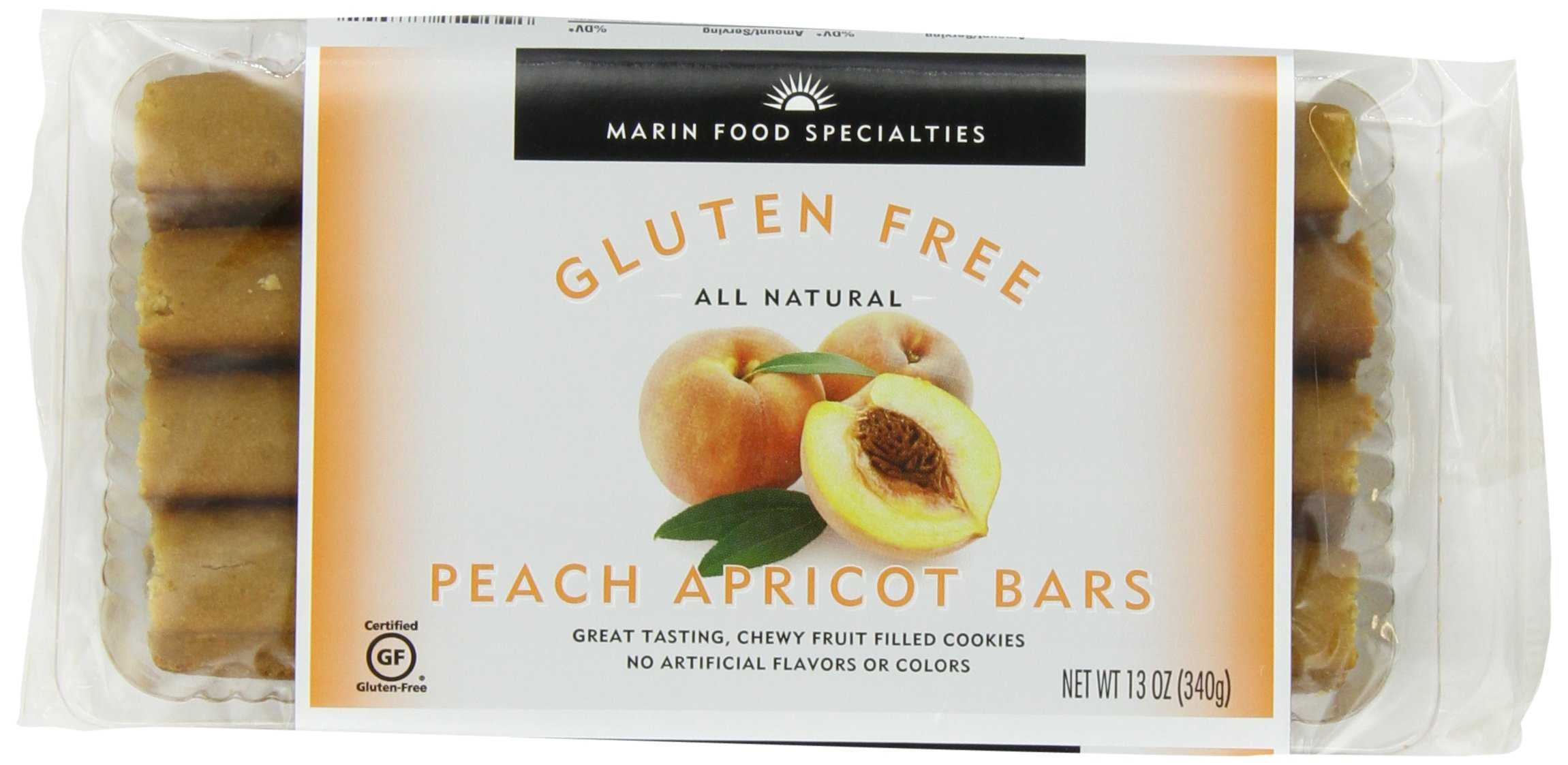 Marin Gluten Free Fruit Bar, Apricot, 13 Ounce (Pack of 6)