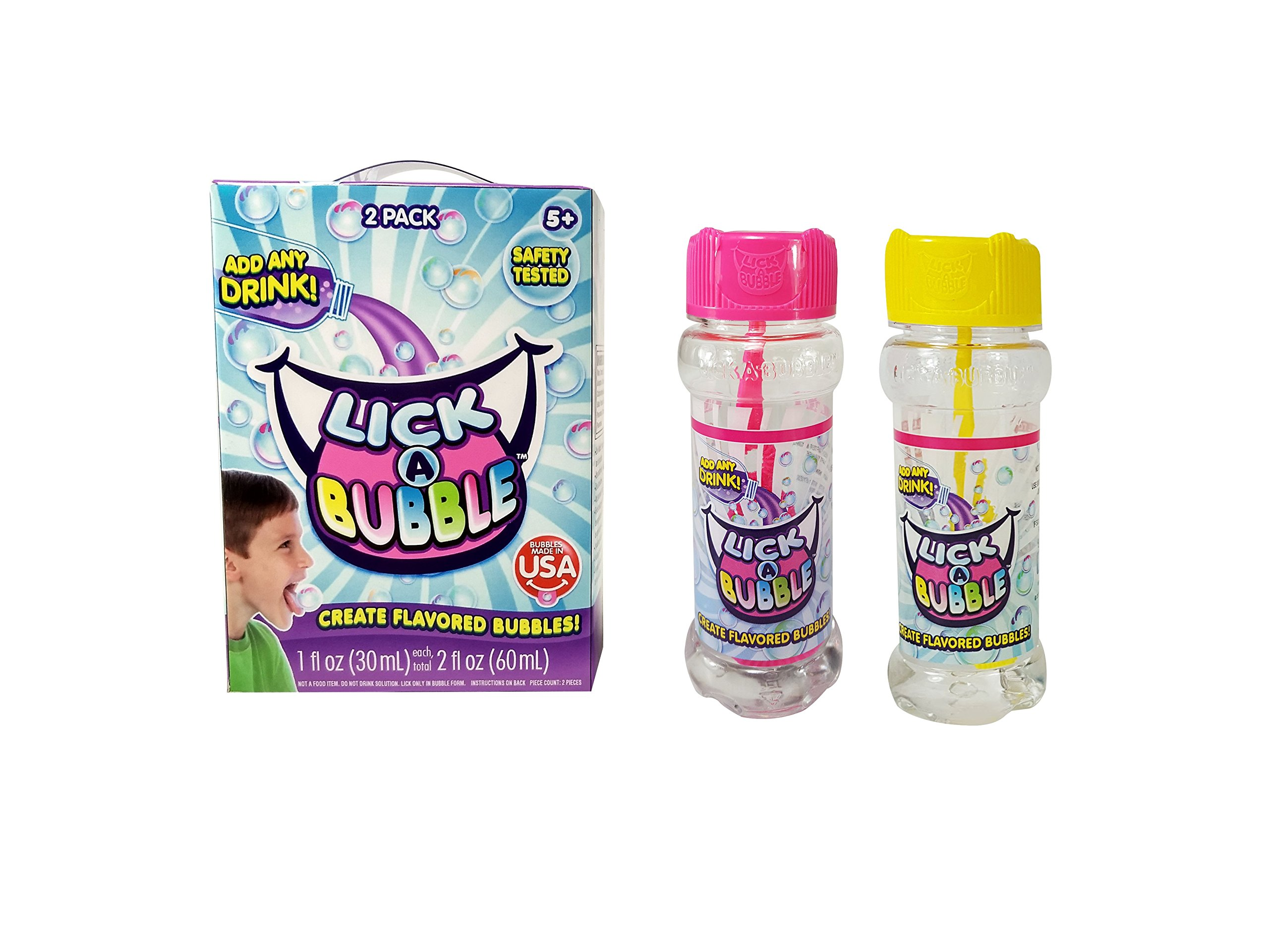 Lick-A-Bubble Create Flavored Bubbles, 2 Pack