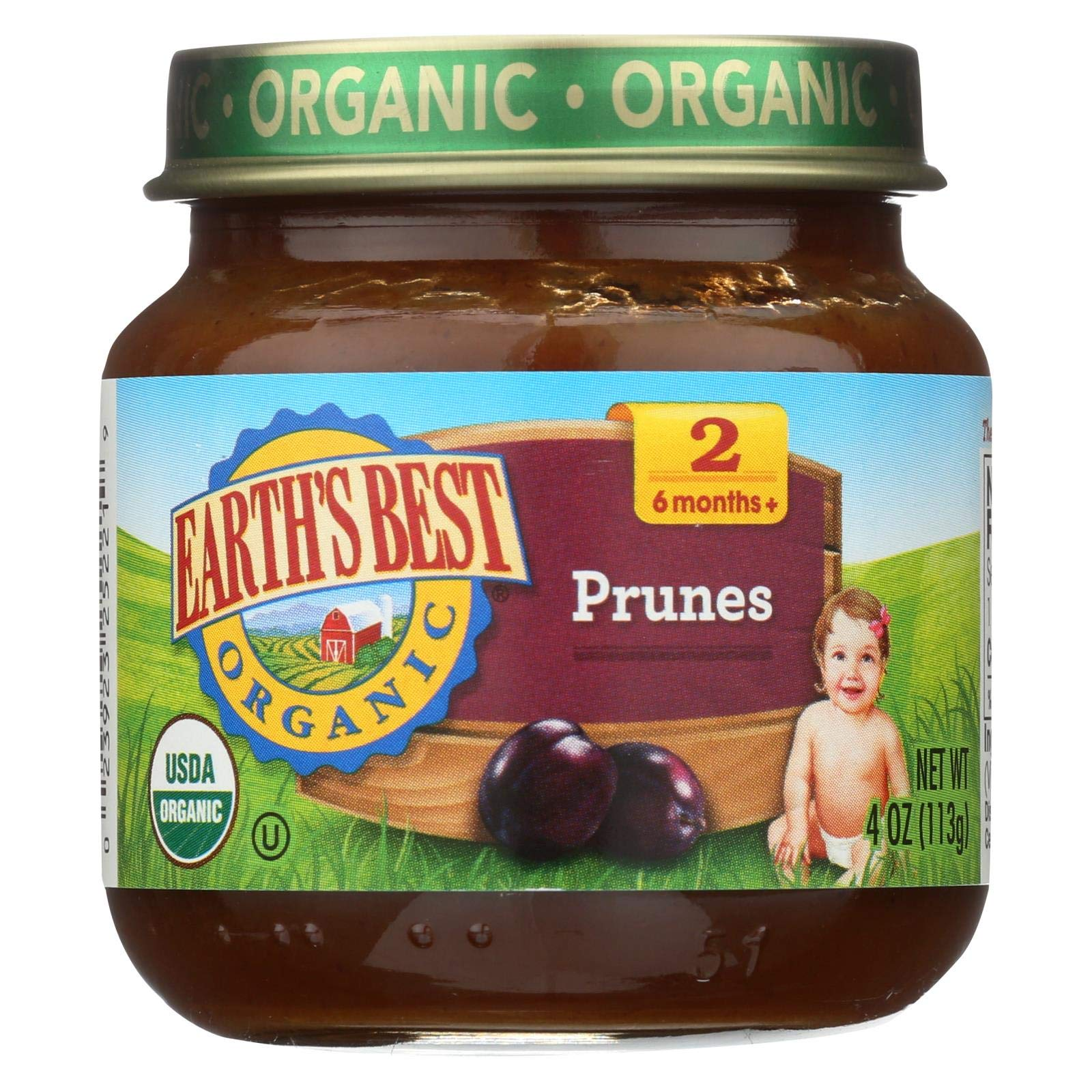 Earth's Best, Stage 2 Prunes Organic, 4 Ounce