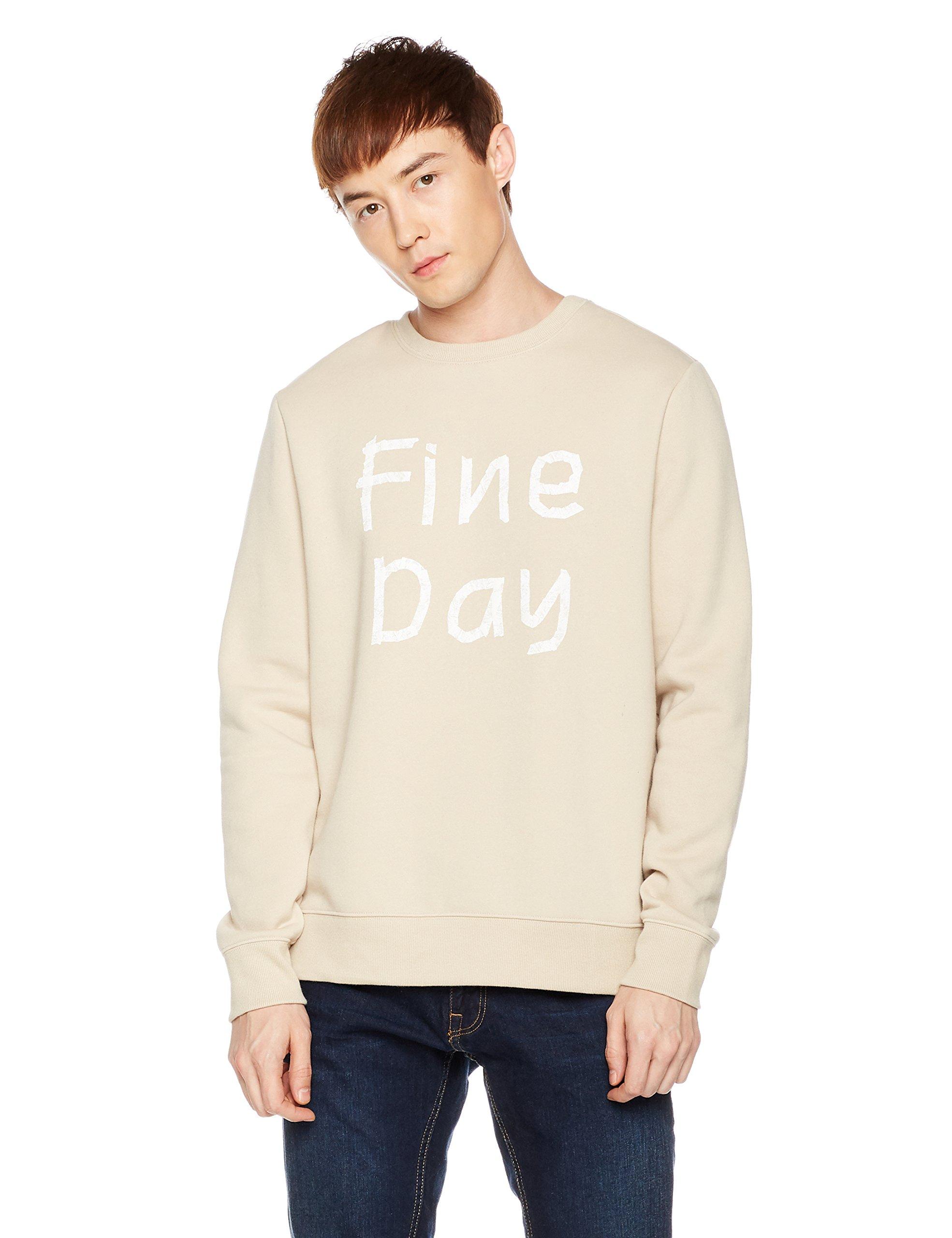 Something for Everyone Men's Fine Day Graphic Pullover Fleece Sweatshirt X-Large Peyote