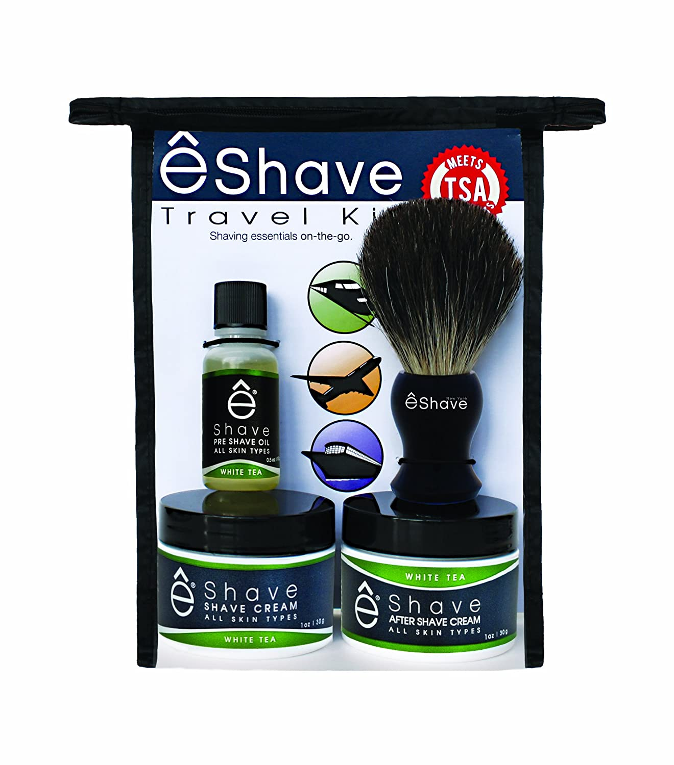 êShave TSA Travel Shaving Kit Lavender eShave 44115