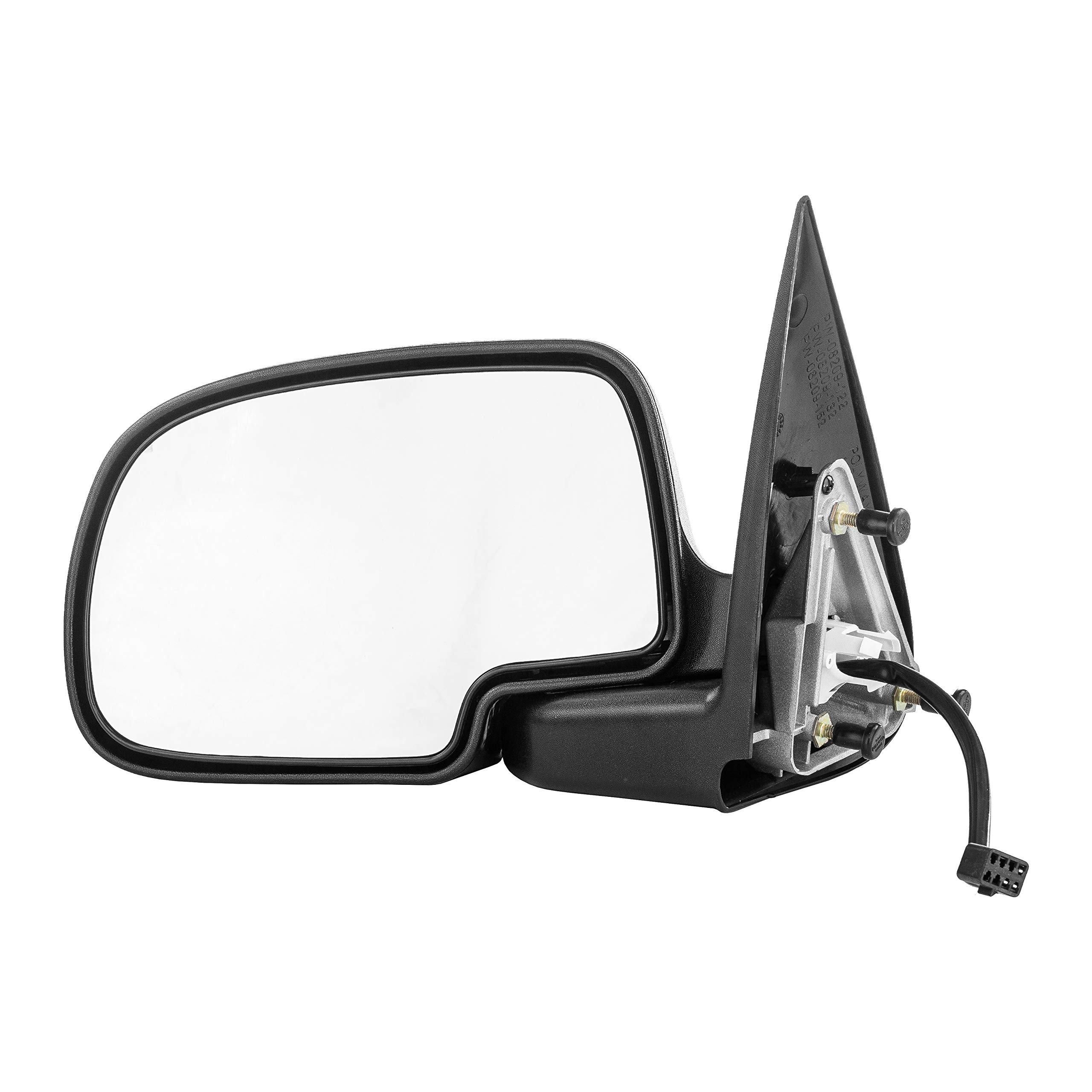 Left Driver Side Mirror for Chevy Avalanche Silverado GMC Sierra 1500 2500 (1999 2000 2001 2002) Chrome Non-Heated Folding Outside Rear View Door Mirror - GM1320174