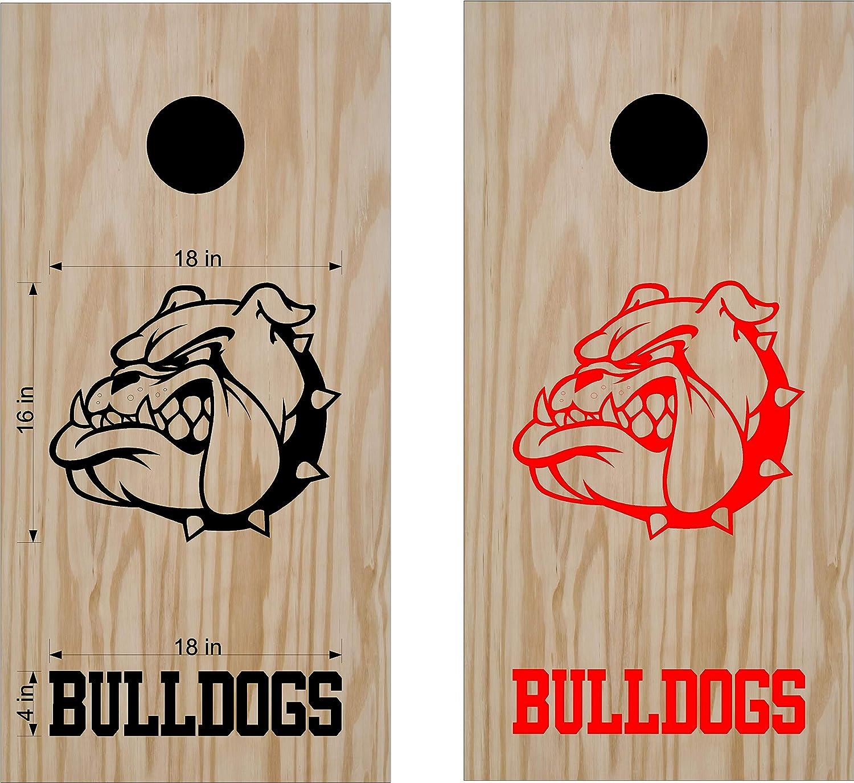 Bulldogs Sports コーンホールボードデカールステッカー B07HNBKN54