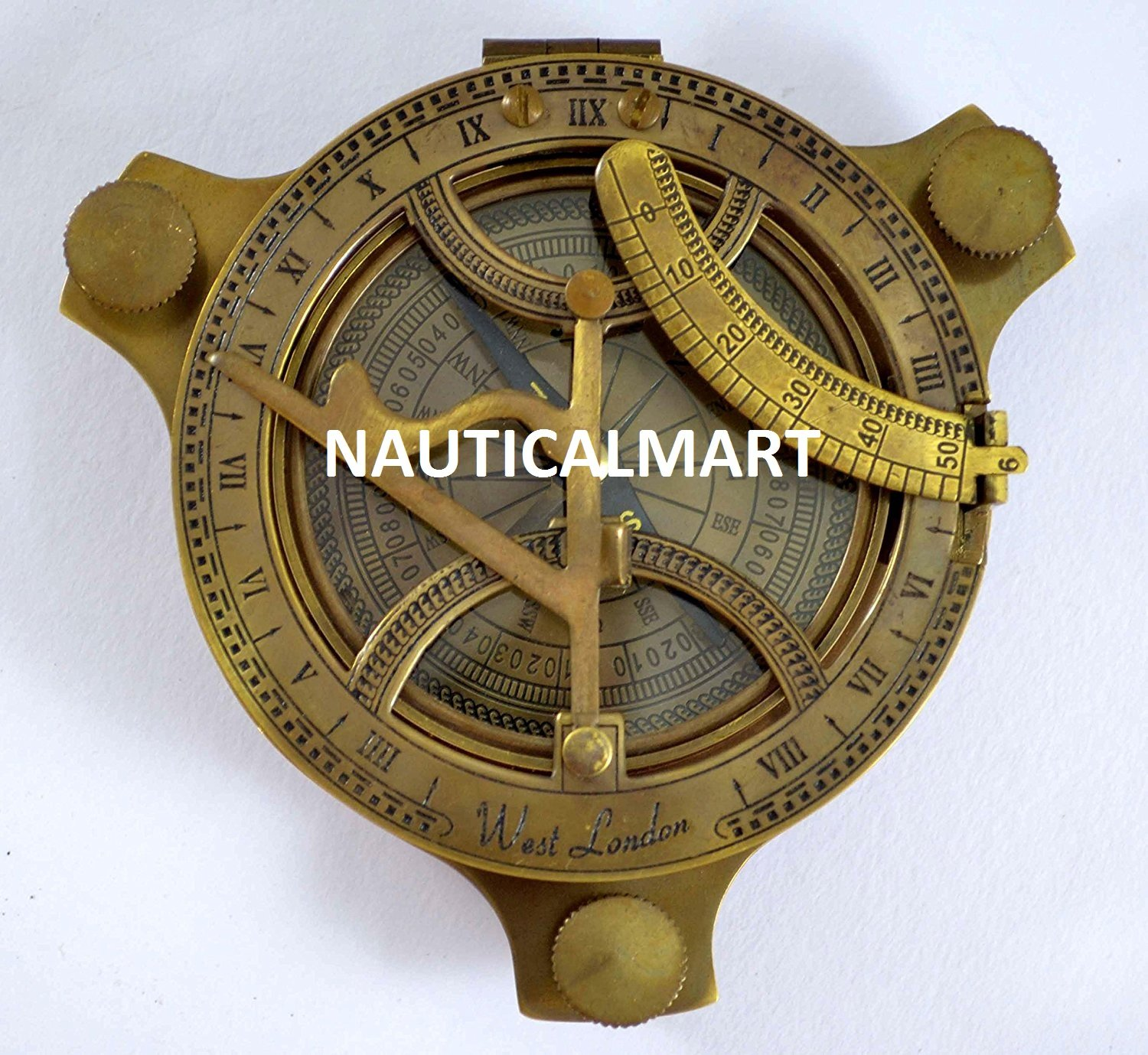 Marine Antik Sonnenuhr Kompass Replica 10,2 cm Collectible Sonnenuhr Kompass
