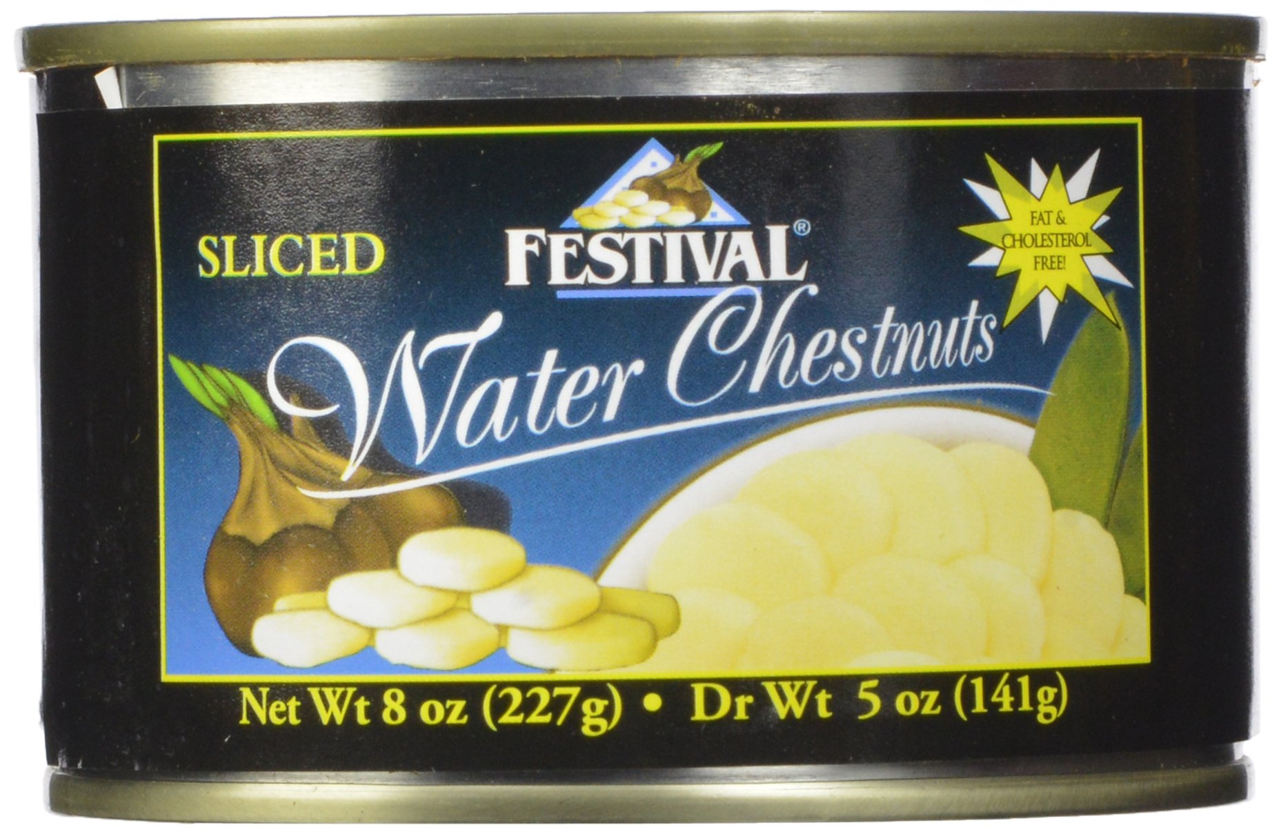 Festival Sliced Waterchestnuts, 8-Ounce (Pack of 24) by Festival