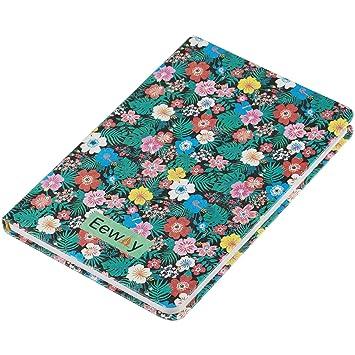 Agenda mensual semanal y diaria, organizador con bloc de notas y diario, color 7.48*5.31in Blue Tropical