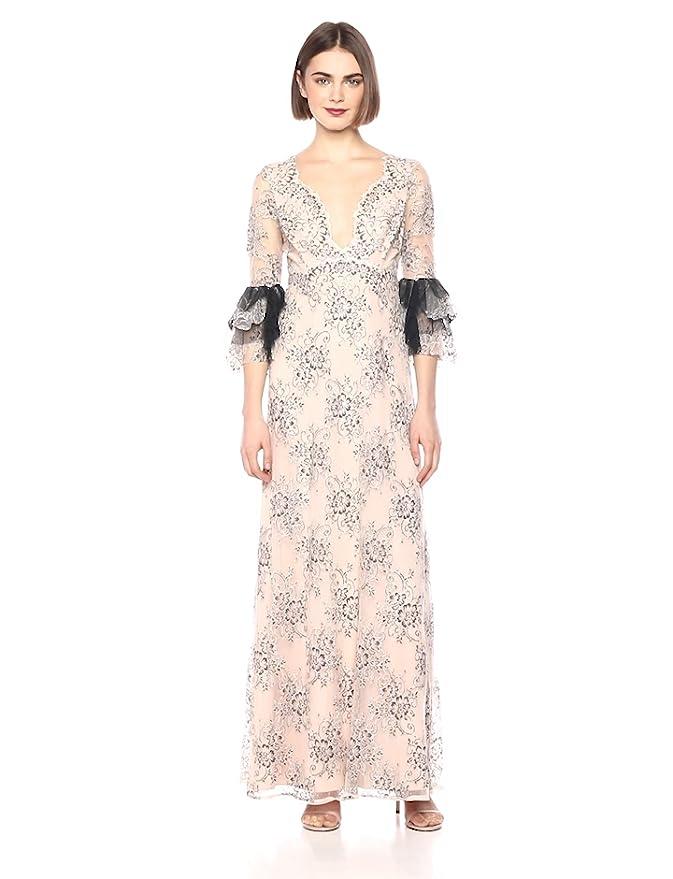 b23ec752153 Amazon.com  BCBGMAXAZRIA Women s Cascading Floral Lace Maxi Dress  Clothing