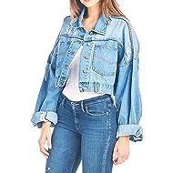 Tough Cookie's Women's Premium Vintage Washed Crop Denim Jacket
