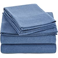 AmazonBasics Heather Jersey Sheet Set - Twin