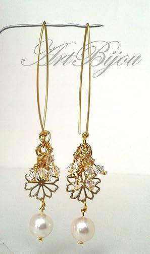 a820e0ebf655 Pendientes Perlas y Cristal de Swarovski