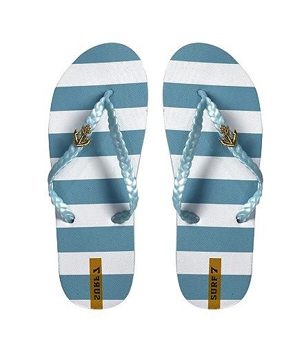 Peach Couture Nautical Summer Men's Beach Flip-Flops Sandals Slippers