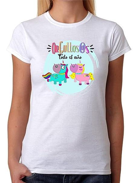 Camiseta Hombre Orgullos@s Todo el Año. Camiseta Dia del Orgullo Gay LGTB. Pride Madrid Chueca. Camiseta para Celebrar el Día. 3EJGuk