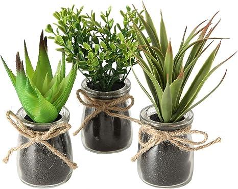 Künstliche Pflanze Kunstpflanze Im Blumentopf Tisch Deko Pflanze Künstlich Dekor