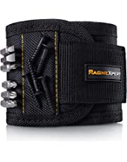 Magnexpert Magnetic Wristband for Holding Tools, Screws, Nails, Bolts, Drilling Bits. Best Christmas Gift For Men, Father/Dad, Husband, Boyfriend, DIY, Handyman. Unique Gift Idea