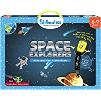 Skillmatics Educational Game: Space Explorers (6-9 Years) | Fun Learning Activities for Kids | Write and Wipe Activity Mats
