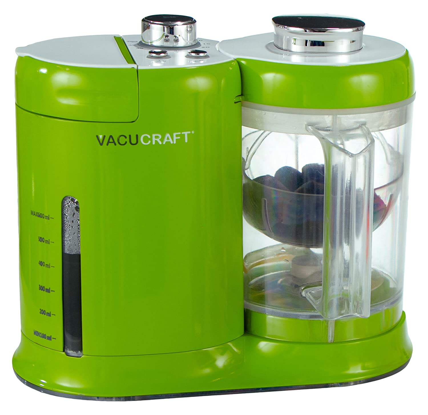 Vacucraft 4-in-1 Baby Food Maker, Food Processor to Steam, Puree, Blend Homemade Food