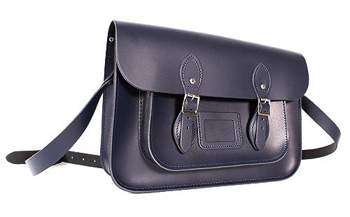 Oxbridge Satchels - Bolso estilo cartera de Piel para mujer azul