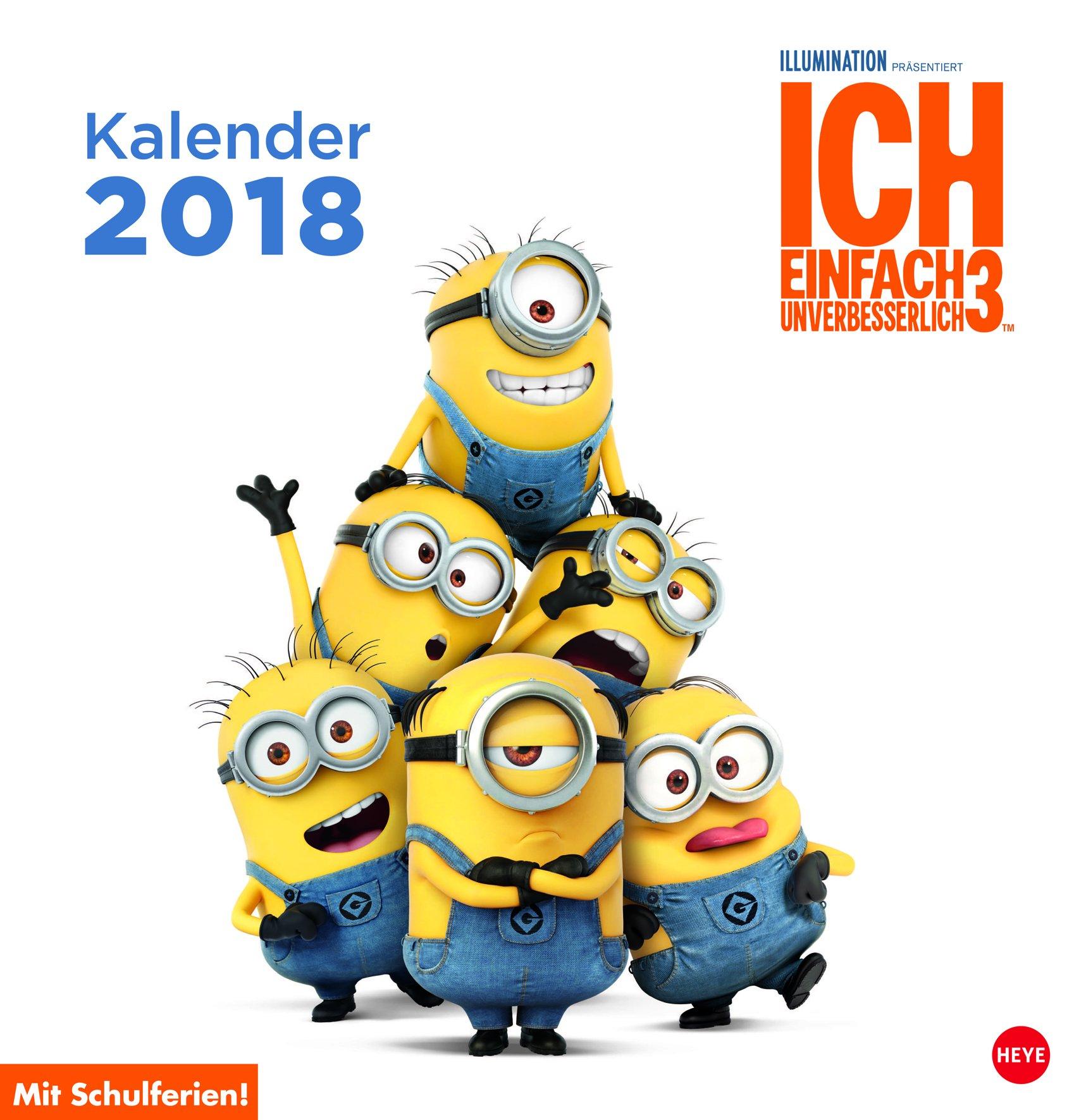 Minions Posterkalender quadratisch - Kalender 2018