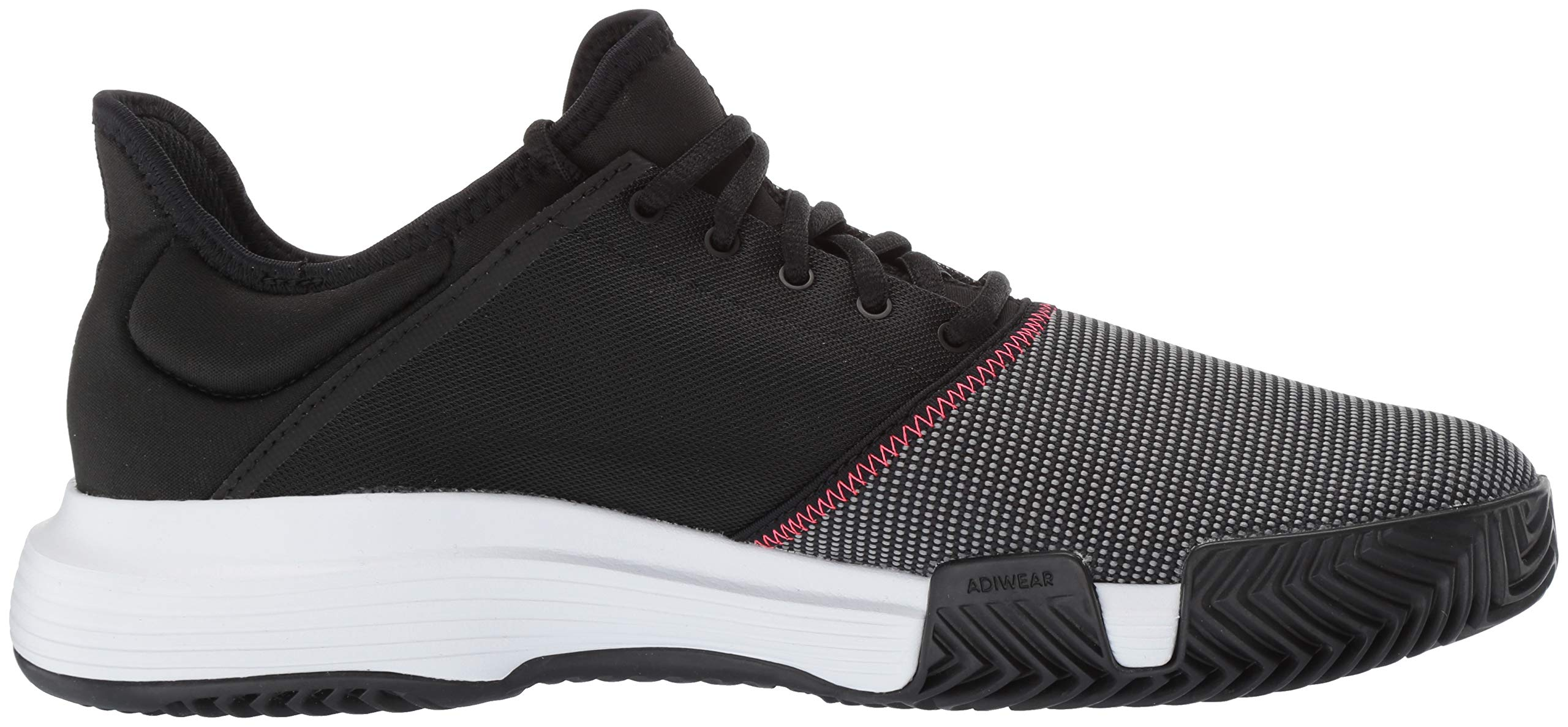adidas Men's Gamecourt, Black/White/Shock red, 6.5 M US by adidas (Image #6)