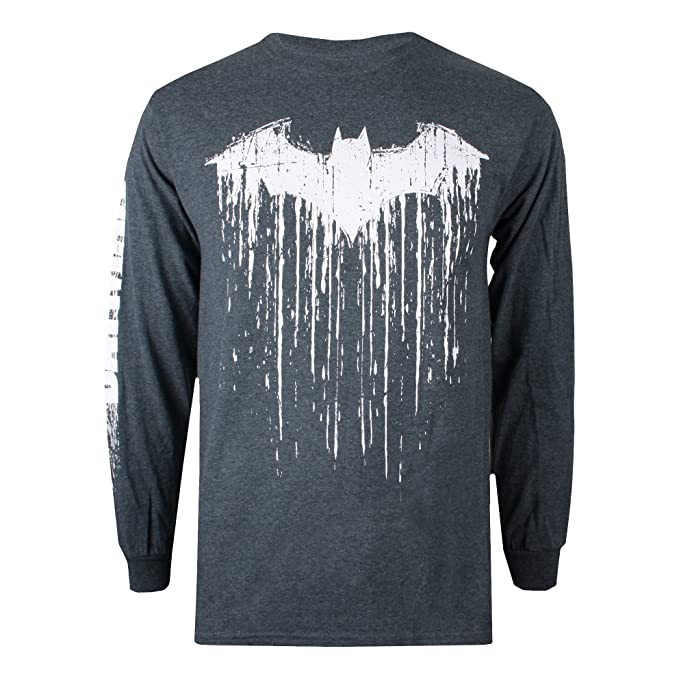 DC Comics Batman Paint, Camiseta de Manga Larga para Hombre