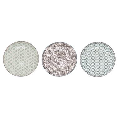 Stoneware Patrizia Plate, 3 Styles