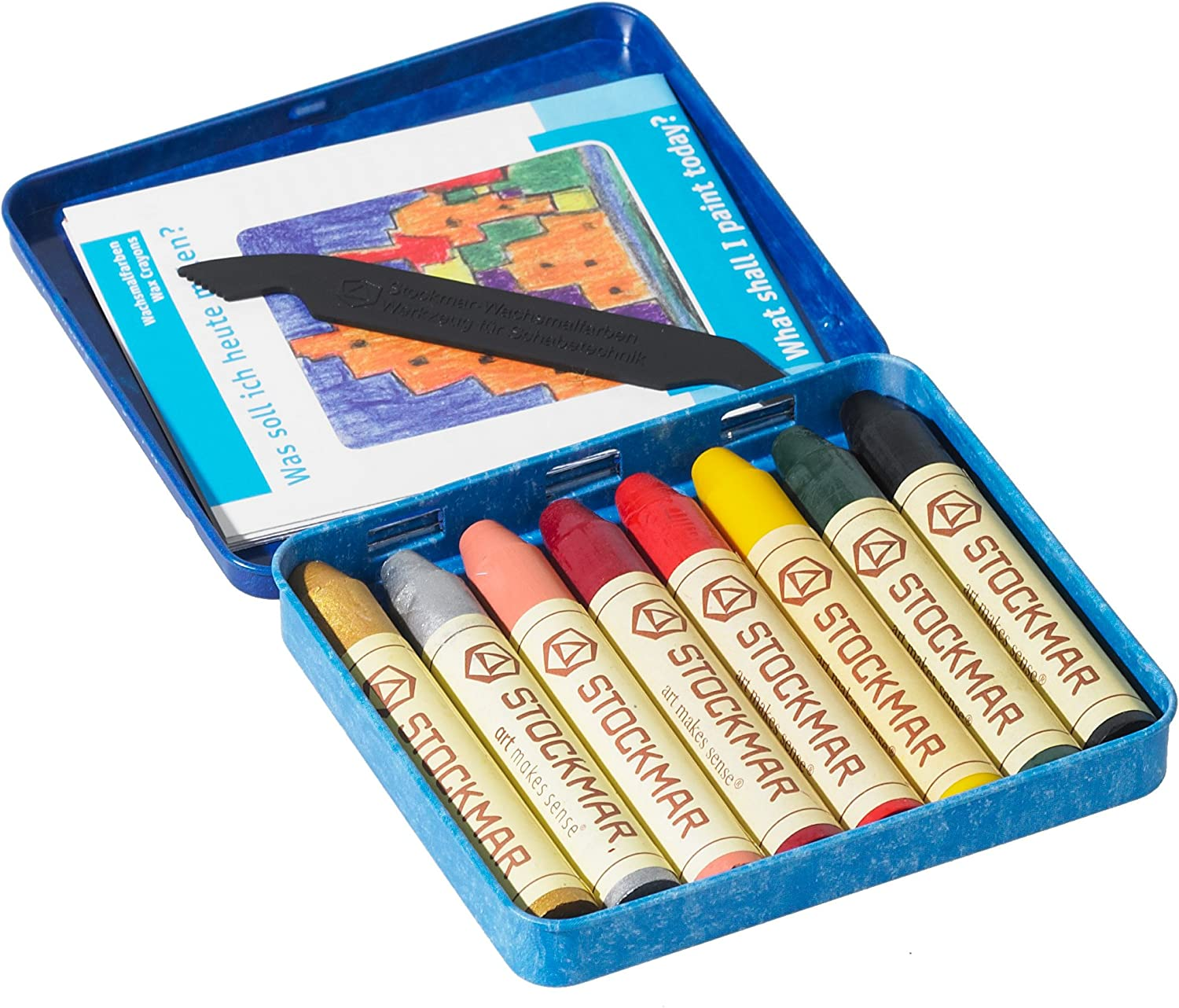 STOCKMAR 32101 Wax Crayons Supplementary Assortment 2-8 Colours