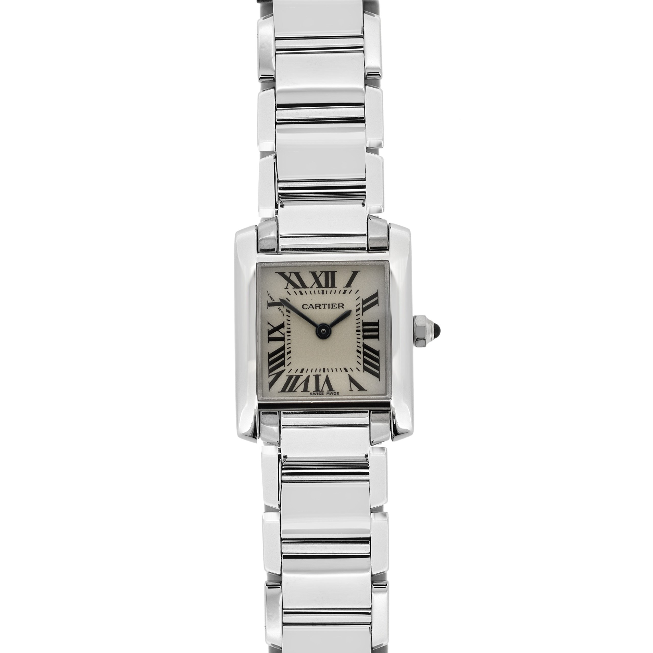 Cartier Tank Francaise quartz womens Watch W50012S3 (Certified Pre-owned)