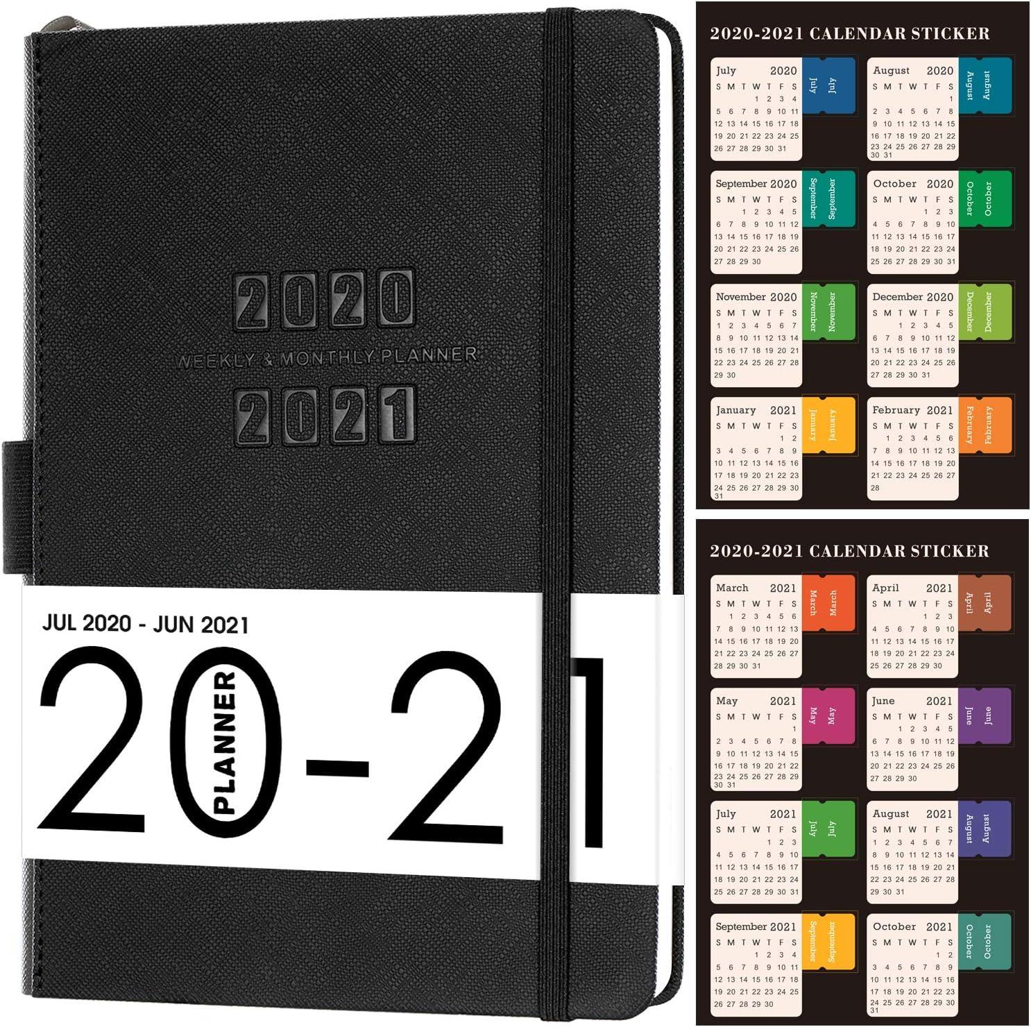 Agenda 2020-2021, la agenda de julio de 2020 a junio de 2021, Planificador semanal con 88 páginas de notas