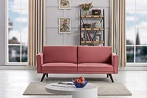 US Pride Furniture SB 9083 Sofabed, Rose