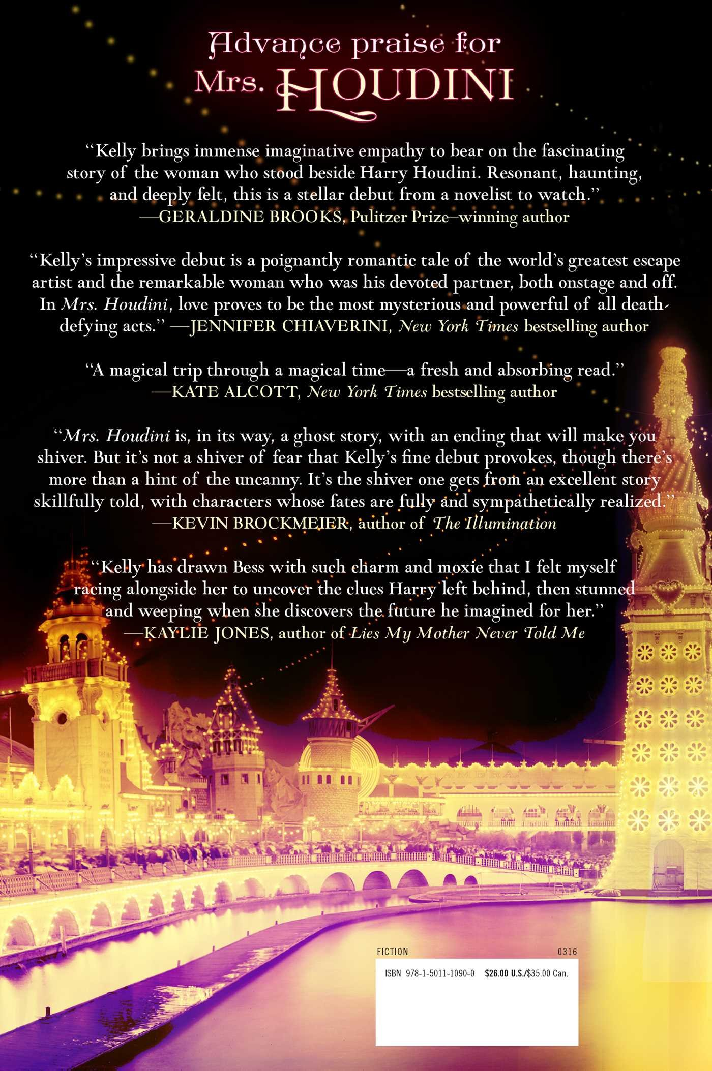 Amazon: Mrs Houdini: A Novel (9781501110900): Victoria Kelly: Books