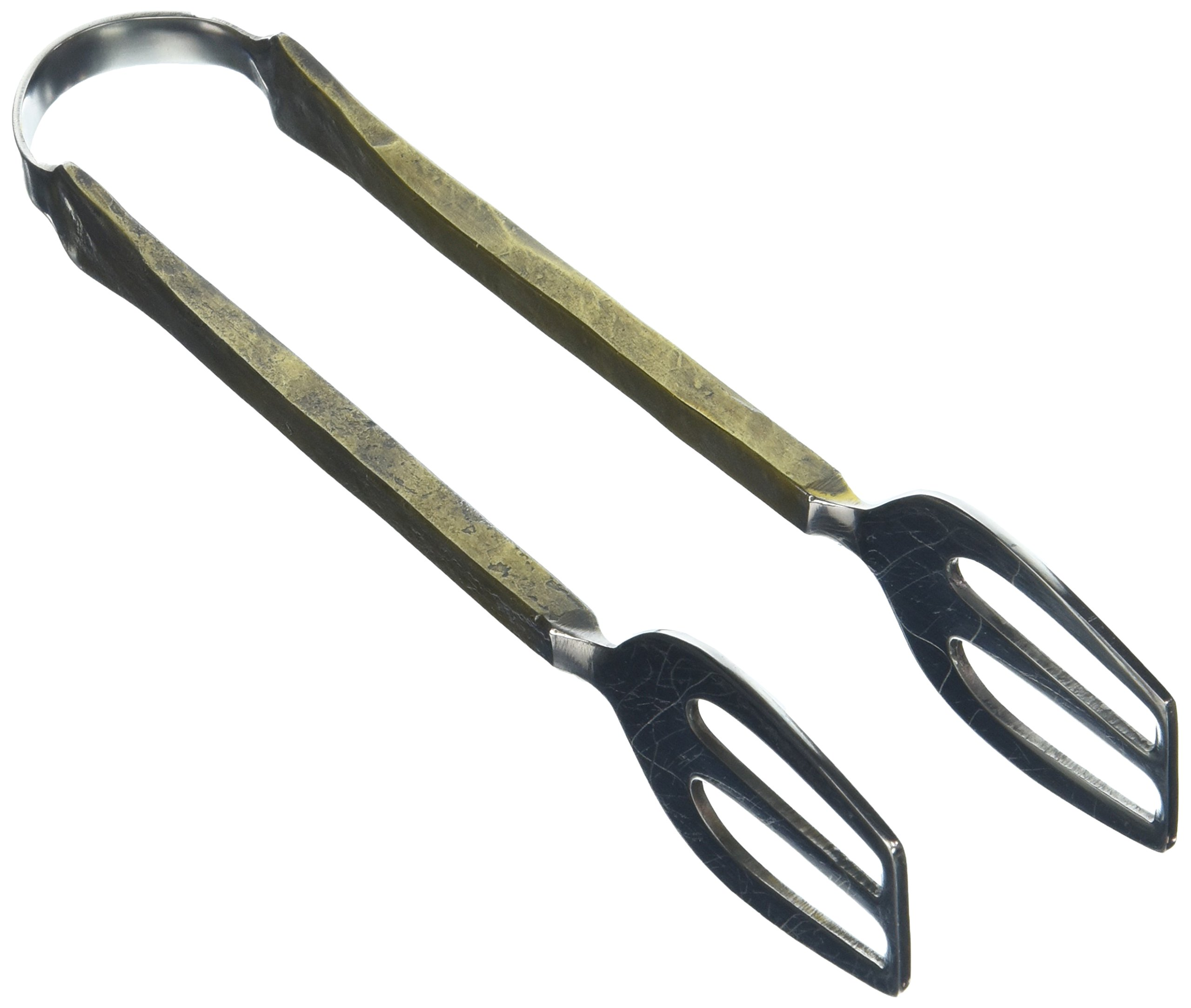 Abbott Collection Antiqued Gold Stainless Steel Ice Tongs by Abbott Collection