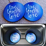 Live, Laugh, Love Car Coasters! For Car Cup Holders. Highly Absorbent for any car cup holders! (2pcs)