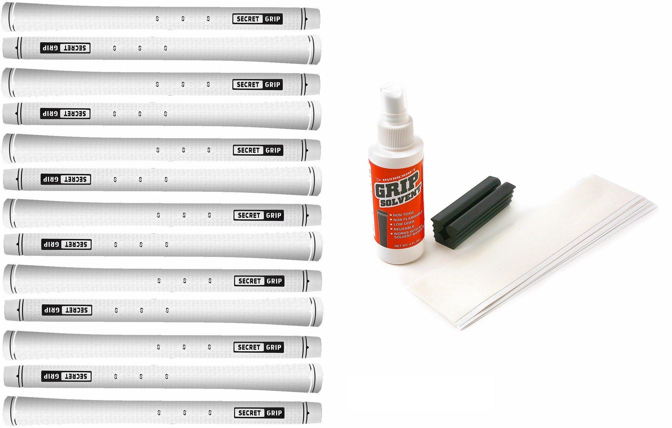 Boccieri Golf Secret Grip Kit with Tape, Solvent and Vise Clamp (13-Piece), White