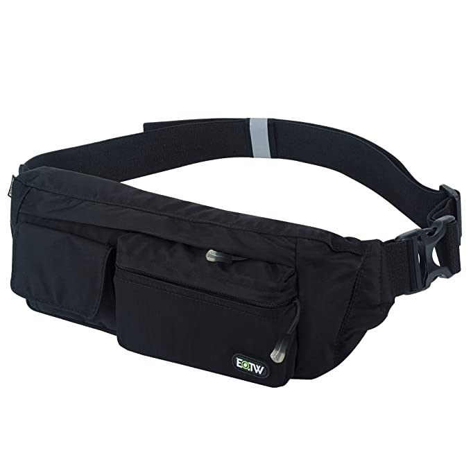 c143294edaa0b EOTW Fanny Pack Waist Bag Travel Pocket Chest Shoulder Bag Running Belt  with Separate Pockets, Adjustable Band for Workout Vacation Hiking for  iPhone ...
