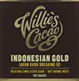 Willie's Cacao Indonesian 69 Javan Light Breaking Light Caramel Notes 80 g (Pack of 4)