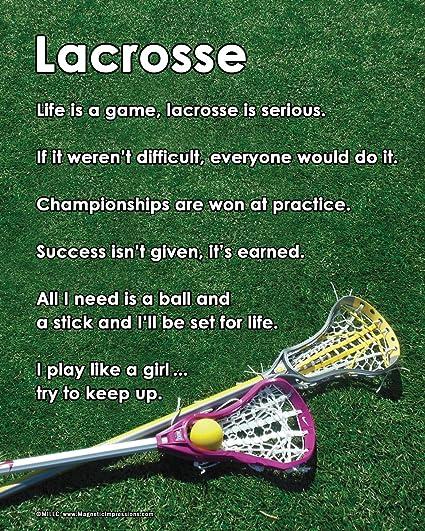 Amazon.com: unframed Lacrosse de la mujer Inspirational 8 x ...
