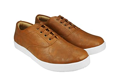 6cf9f66769ac Image Unavailable. Image not available for. Colour  Nymeria Men Trendy Tan  Color Casual Shoes ( Size ...