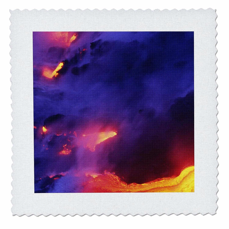 Hawaii Volcanoes NP 3dRose Lava qs/_89572/_1 Douglas Peebles Kilauea Volcano Quilt Square US12 DPB0296 10 by 10-inch