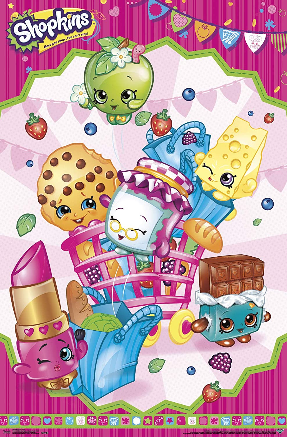 image relating to Printable Shopkins Posters known as Traits Worldwide Shopkins Wall Poster 22.375\