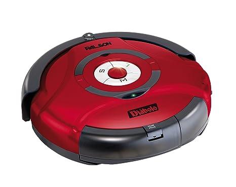 Palson 30595 Diablo-Robot Aspirador (Acero Inoxidable, 23 W, Sensor automático), Color Rojo, 65 Decibelios, plástico