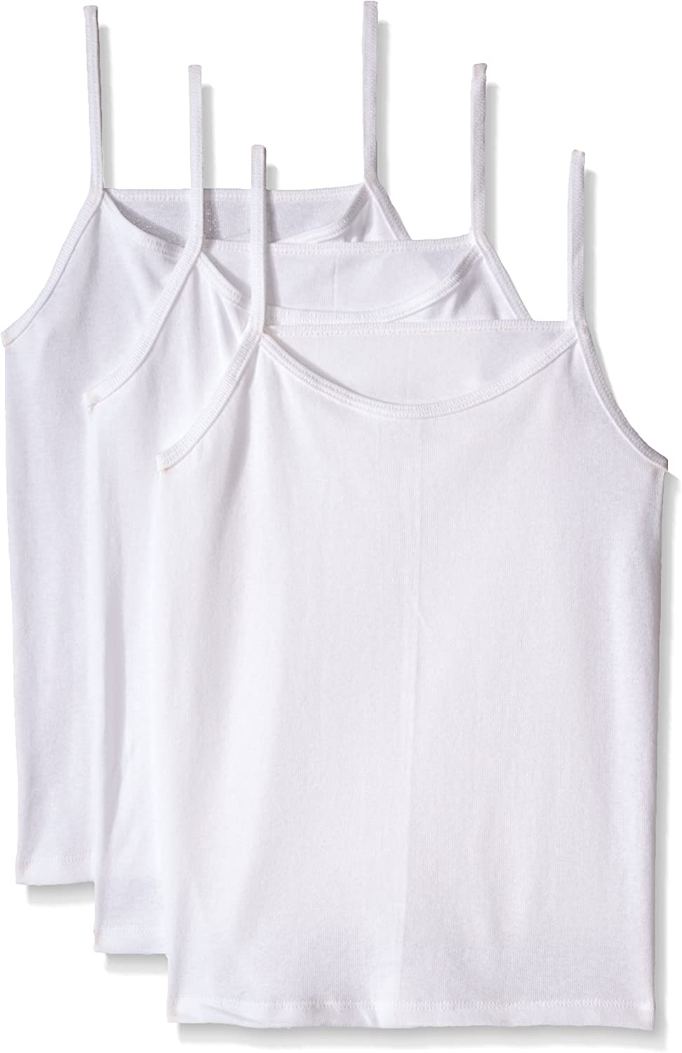 Fruit of the Loom Big Girls' White Cami (Pack of 3): Clothing