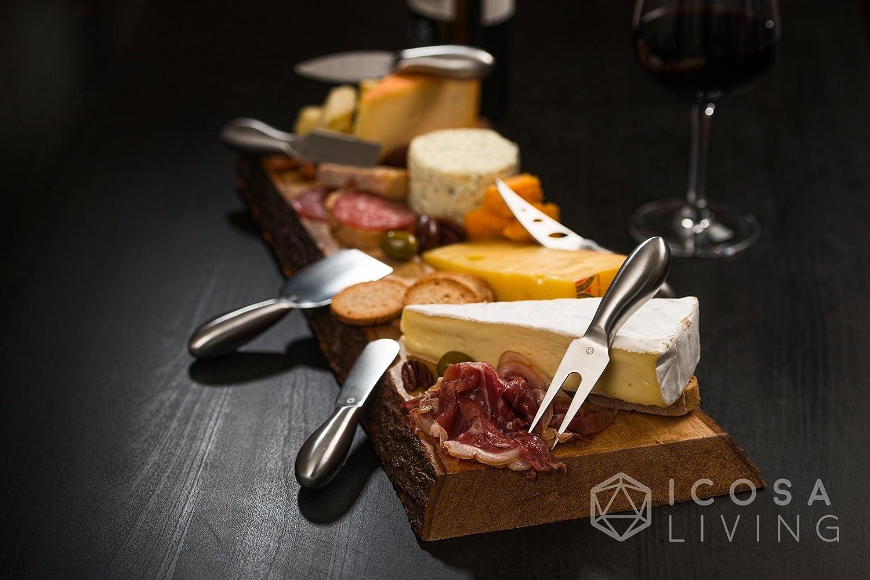 LUNAR Premium 6-Piece Cheese Knife Set