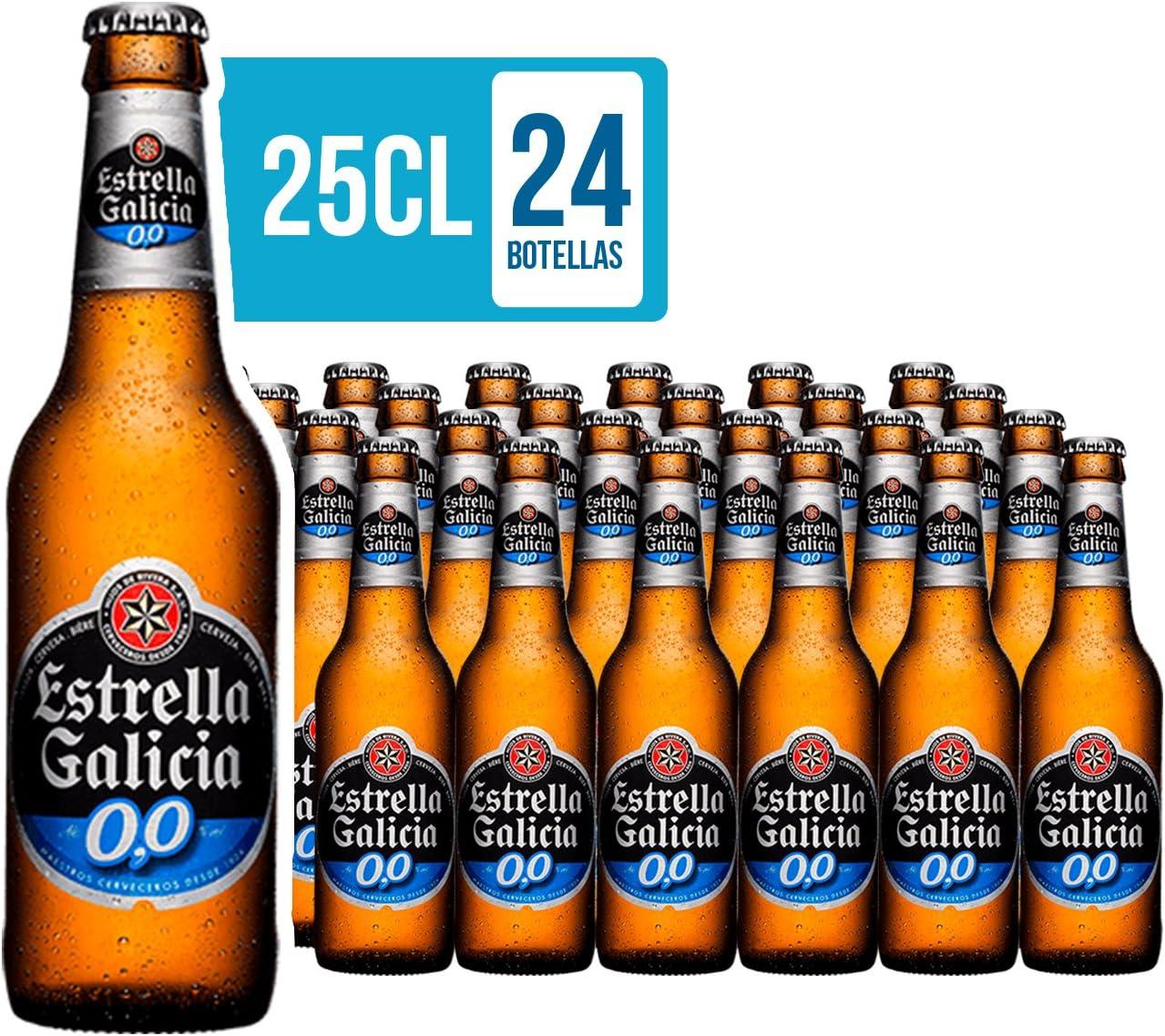 Estrella Galicia Cerveza 00 - Pack de 24 botellas x 25 cl: Amazon.es: Alimentación y bebidas