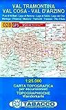 Val Tramontina, Cal Cosa, Val D'Arzimo: Wanderkarte Tabacco 028. 1:25000 (Cartes Topograh)