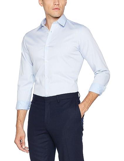 c3218ff3d16540 JACK   JONES PREMIUM Herren Businesshemd JPRNON Iron Shirt L S NOOS Blau  (Cashmere